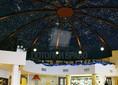 Черный матовый натяжной потолок в форме купола НП-581