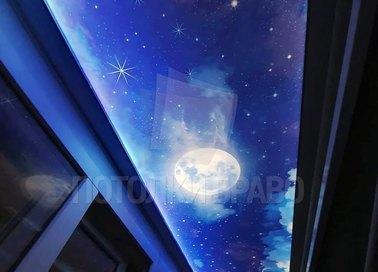 Ночной сатиновый натяжной потолок для балкона НП-592