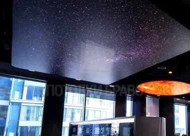 Фантастический темный натяжной потолок для холла НП-602 - фото 2