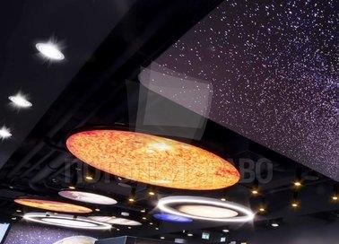 Фантастический темный натяжной потолок для холла НП-602 - фото 3