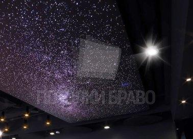 Фантастический темный натяжной потолок для холла НП-602 - фото 5