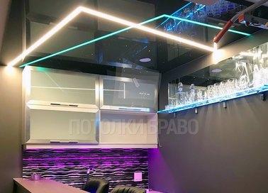 Современный фиолетовый натяжной потолок для квартиры-студии НП-605 - фото 2