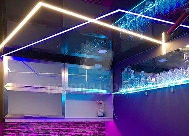 Современный фиолетовый натяжной потолок для квартиры-студии НП-605 - фото 4