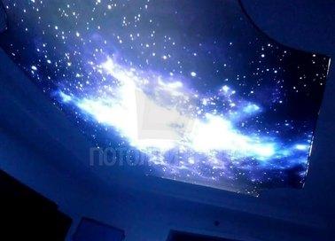 Синий космический матовый натяжной потолок НП-606 - фото 2