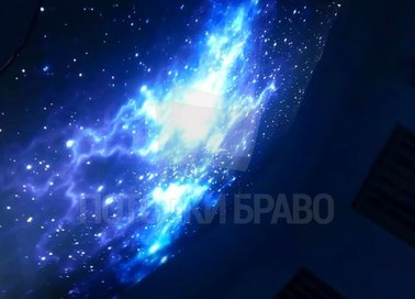 Синий космический матовый натяжной потолок НП-606 - фото 3