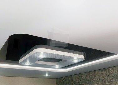Квадратный черно-белый натяжной потолок НП-633 - фото 3