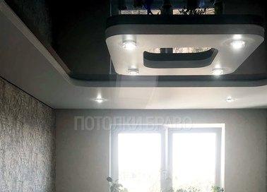 Квадратный черно-белый натяжной потолок НП-633 - фото 4