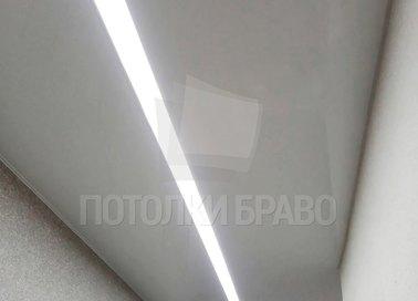 Матовый натяжной потолок для коридора с подсветкой НП-653 - фото 2