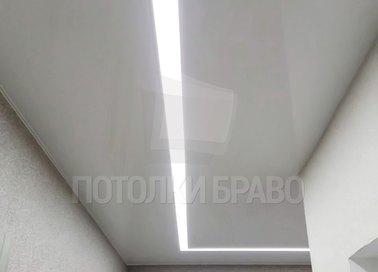 Матовый натяжной потолок для коридора с подсветкой НП-653