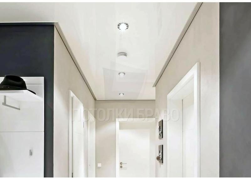 Молочный сатиновый натяжной потолок НП-684