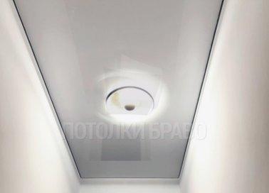 Серый сатиновый прямоугольный натяжной потолок НП-687