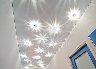 Матовый белый натяжной потолок с внутренней подсветкой НП-696