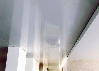 Сатиновый белый натяжной потолок для общественных мест НП-707