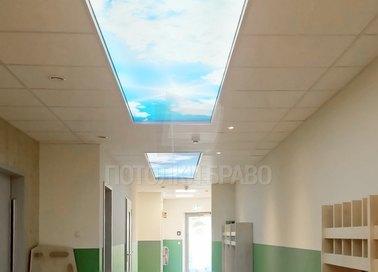 Матовый натяжной потолок для общественного помещения НП-711 - фото 2