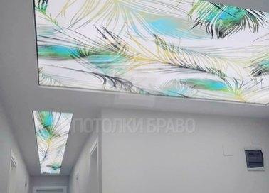 Глянцевый натяжной потолок в японском стиле для коридора НП-720