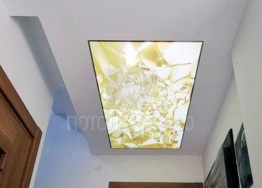 Матовый потолок со вставкой НП-731