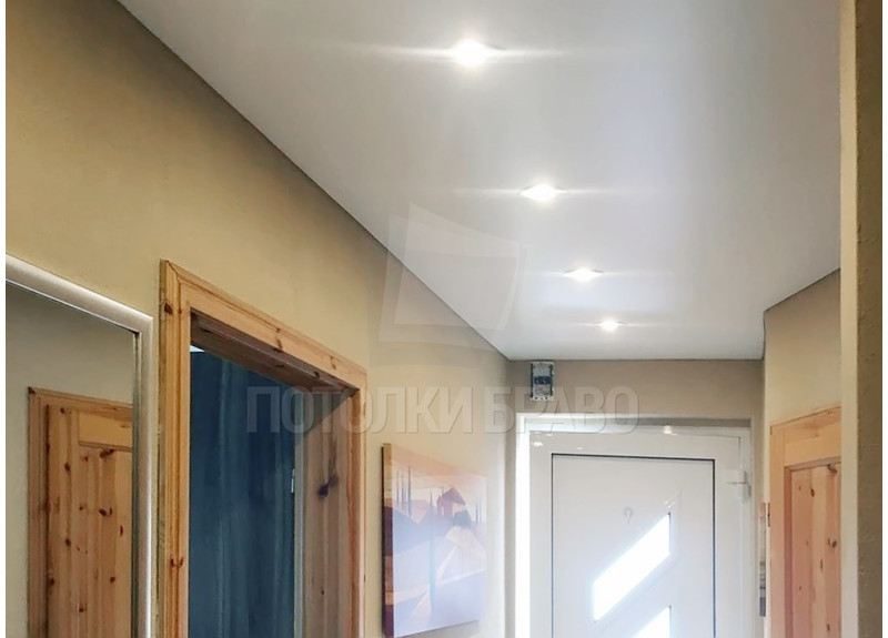 Матовый с лампочками натяжной потолок НП-735 - фото 2