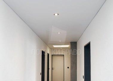 Матовый натяжной потолок со светильниками НП-736