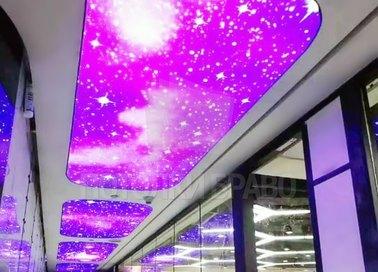 Матовый натяжной потолок с изображением космоса НП-743