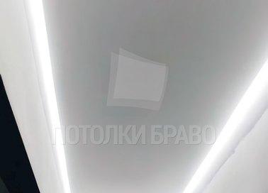 Матовый натяжной потолок с подсветкой для коридора НП-744