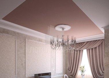 Матовый розовый натяжной потолок НП-749