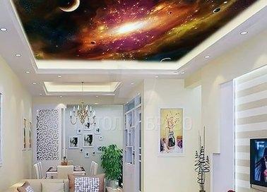 Матовый натяжной потолок с изображением галактики НП-761