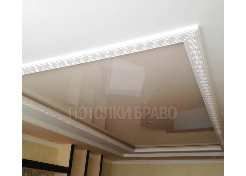 Глянцевый натяжной потолок в стиле ампир НП-789