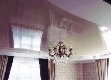 Глянцевый зеркальный натяжной потолок НП-795