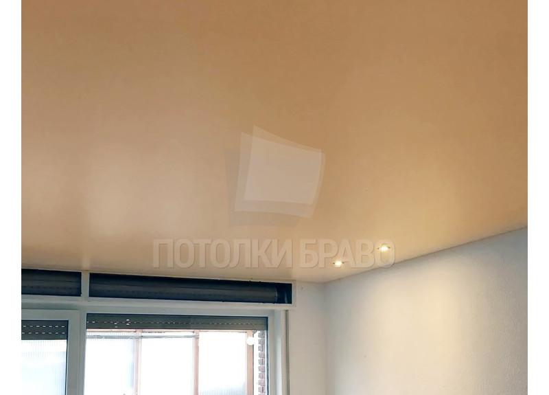 Матовый желтый в комнату натяжной потолок НП-796 - фото 2
