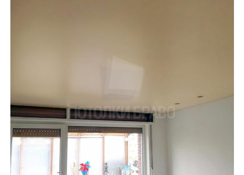 Матовый желтый в комнату натяжной потолок НП-796 - фото 3