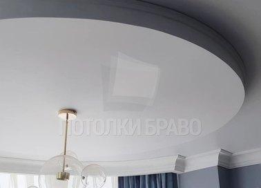 Двухуровневый матовый натяжной потолок для жилой комнаты НП-840