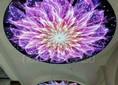 Красивый матовый натяжной потолок с цветами НП-843