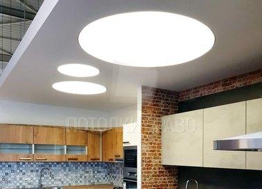 Матовый натяжной потолок в стиле Лофт для кухни НП-847