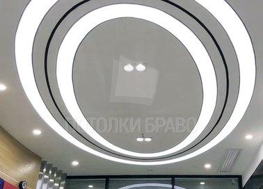 Круглый матовый натяжной потолок для офиса НП-855