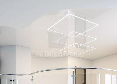 Современный многоуровневый натяжной потолок НП-859 - фото 2