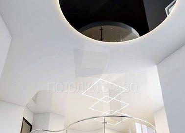 Современный многоуровневый натяжной потолок НП-859 - фото 3