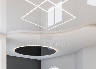 Современный многоуровневый натяжной потолок НП-859