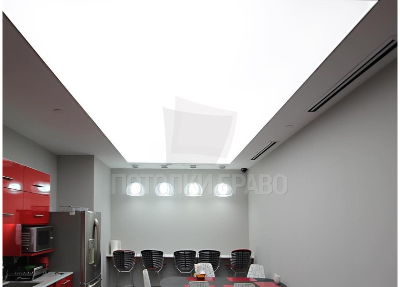 Прямоугольный матовый натяжной потолок для кухни НП-872
