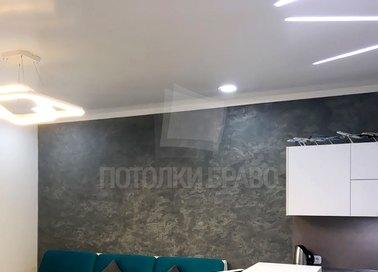 Современный сатиновый натяжной потолок для кухни НП-876 - фото 2