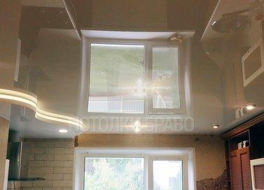 Молочный волнообразный натяжной потолок НП-878 - фото 2