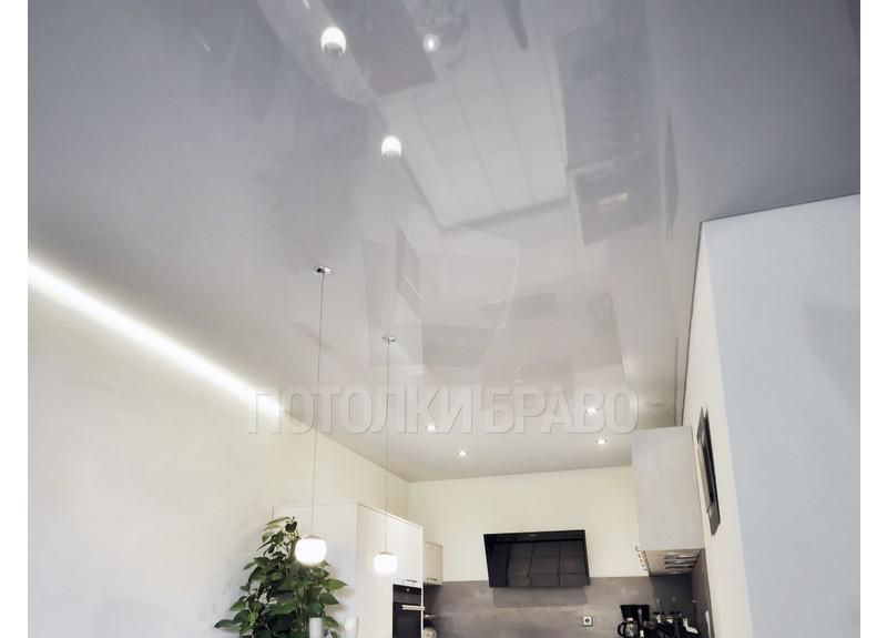 Стильный серый натяжной потолок НП-886