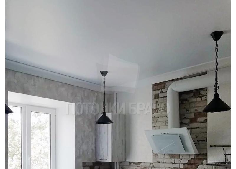 Матовый белый натяжной потолок для кухни НП-914 - фото 2