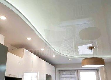 Матовый-глянцевый натяжной потолок для кухни НП-920