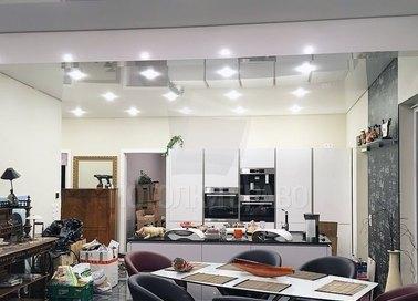Двухуровневый натяжной потолок для кухни НП-937