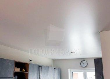 Матовый серый натяжной потолок для кухни НП-958