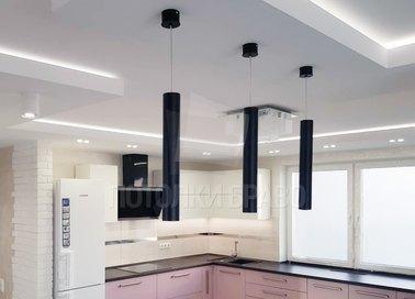 Сиреневый матовый натяжной потолок для кухни НП-969 - фото 2