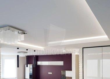 Сиреневый матовый натяжной потолок для кухни НП-969