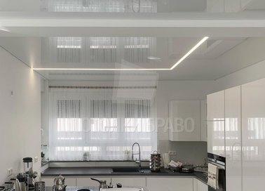 Глянцевый натяжной потолок для кухни НП-998