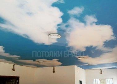 Матовый небесный натяжной потолок НП-1012