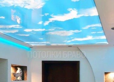 Матовый натяжной потолок с изображением неба НП-1014 - фото 2
